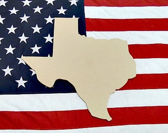 Texas Unfinished Wooden Shape,Paintable Wooden MDF