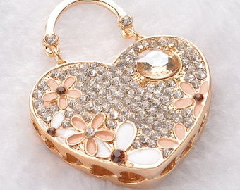 1 pc Purse Alloy Rhinestone Bling Bling Decoden Piece for your craft projects
