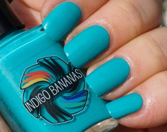 Diva Plumbum - teal neon creme - nail polish by Indigo Bananas