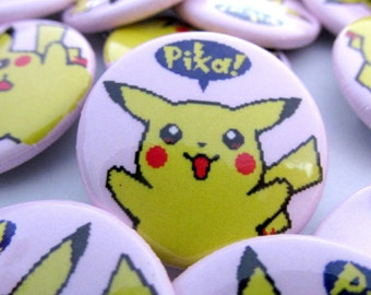 Pikachu Pinback Button Badge Pin 1.5"