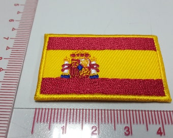 Spain Flag Iron on patch - España Flag Applique Embroidered Iron on Patch
