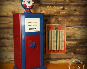 Vintage Gas Pump Cabinet With Light Children's Bedroom Furniture Storage Decor