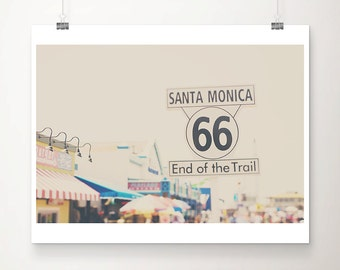 route 66 photograph santa monica pier photograph california photograph travel photography california print route 66 print