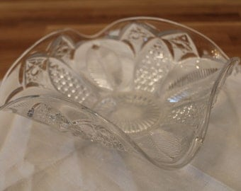 Cut Glass Candy Dish