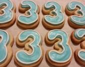 Mini Number Cookies - Outline (3 dozen)