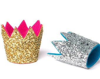 Valentines Crown Birthday Crown New Years Crown Glitter Crown Chunky Mini Glitter Crown Party Hat Bachelorette Crown