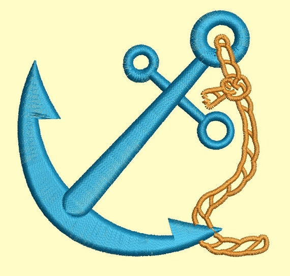 anchor Machine Embroidery designs 2 sizes 4inc 3 inc