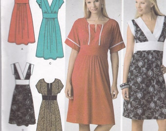 Simplicity 3875 Vintage Pattern Womens  Dress in 4 Variations SIze 4,6,8,10,12 UNCUT