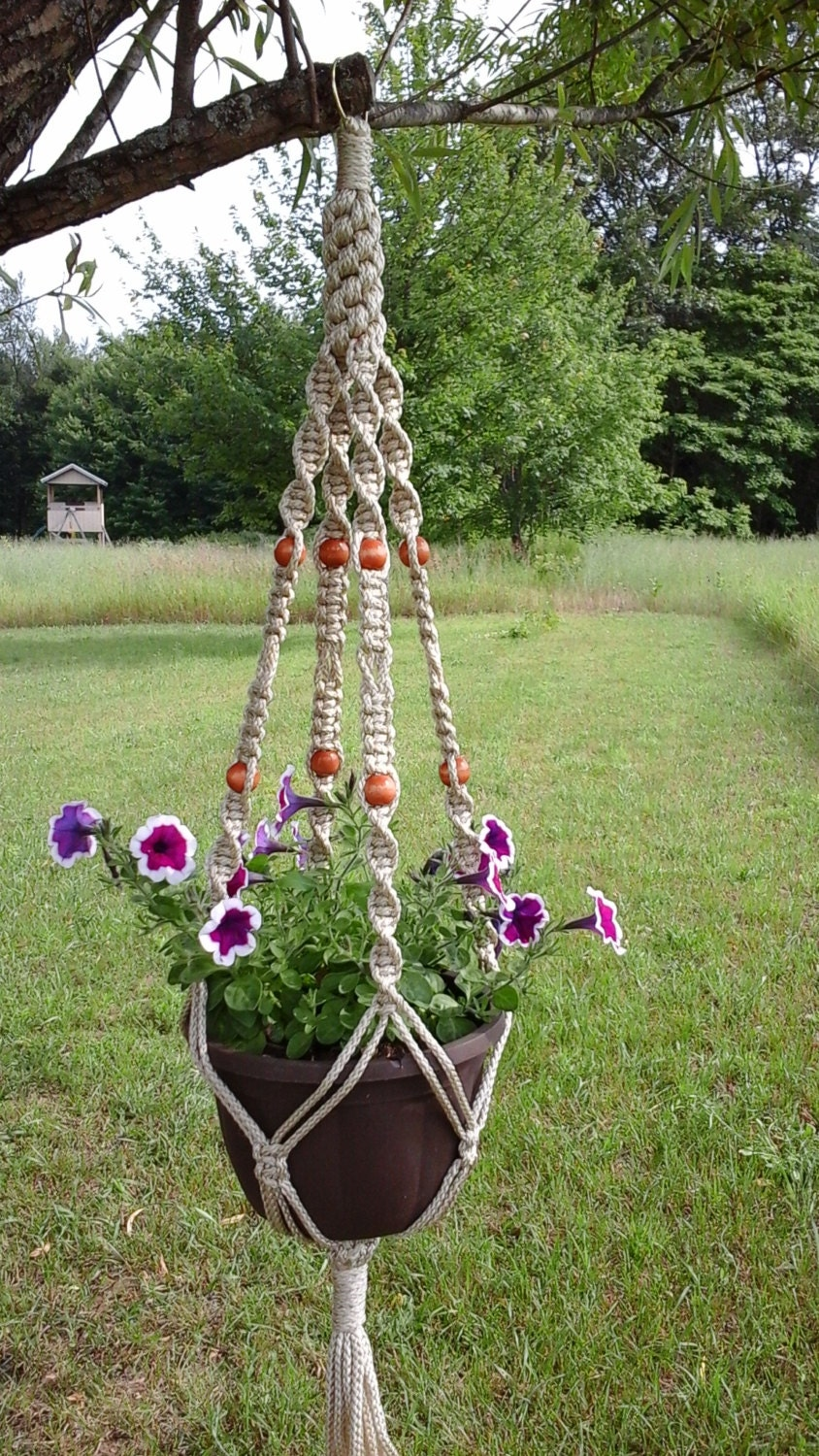 Large Twisted N Knots Macrame 39 Plant Hanger Large By