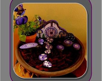 child gift,little girl gift,Fairy gardens,fairy garden kits,fairy gardens,fairy furniture,purple,fairy house,fairies, garden accessories