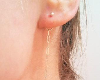Argentium Silver Chain Earring Back Non-Tarnish