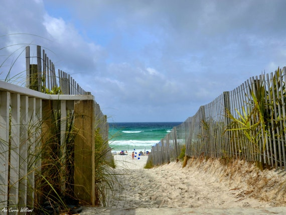 Walkway through the dunes to the beach in Seaside, Florida (canvas)