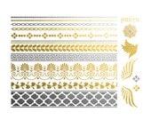 Greek Bracelets and Wings Metallic Tattoo