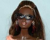 1:6, Barbie, Fashion Doll, Eye Glasses, Black Rim Plain, Handmade, Accessories, Glasses, Fashion, OOAK, Custom