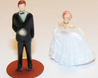 Size 1:64 Vintage Miniature Man, Woman Evening Gown, Tuxedo Couple, Princess, Prince, Wedding, Prom Date, Elegant Small, Diorama, Ball Gown