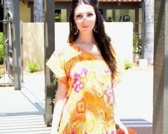 Beach coverup/ vacation dress/ caftan dress/ sundress