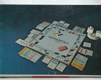 Monopoly Anniversary Edition Parker Brothers 1974 COMPLETE (read description)
