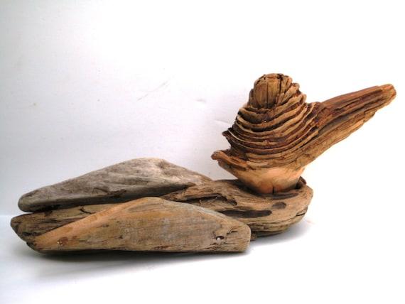 Bois flott canard d rive bois canard bois sculpture bois for Achat sculpture bois flotte
