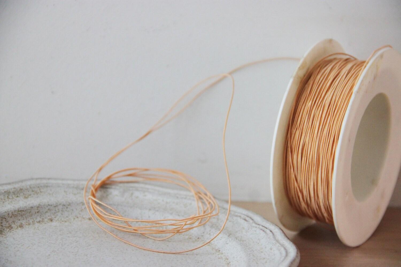Dünner, flexibler Draht, Apricot gefärbt, dünne, Polyester Schnur ...