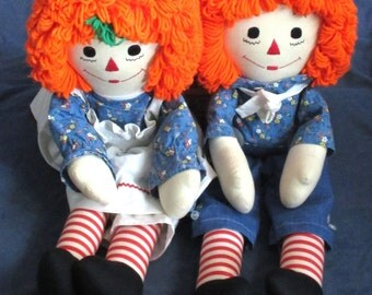 """large 24"""" Raggedy & Andy Dolls"""