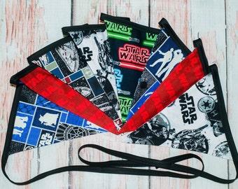 Star Wars fabric banner - Star Wars fabric bunting - Star Wars birthday decoration