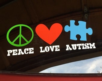 Autism Car Decal Etsy - Best car sticker logo