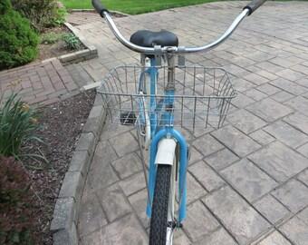 Vintage Front Wheel Metal Bike Basket