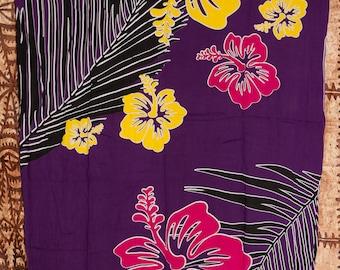 Hawaiian Printed Full Length Sarong