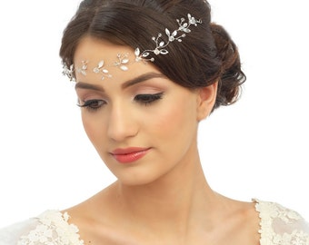 Crystal Leaf Hairvine, Bridal Couture