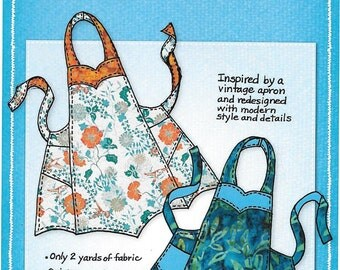 Chatterbox Apron Pattern, Another Reversible Apron with Personality, By Mary Mulari Designs