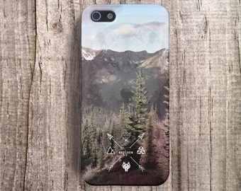 Fall iPhone 4 Case, Wolf iPhone 5 Case, Vintage iPhone 5s Case Mountain iPhone 4 Case, Retro iPhone 4s Case Retro iPhone Cases Economy