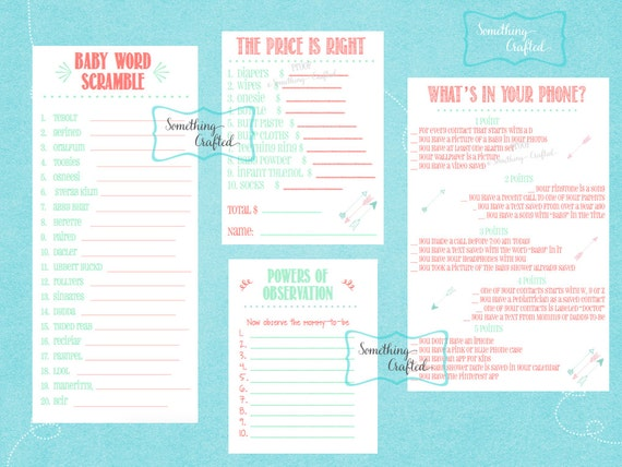 baby shower games printable baby girl shower games print at home