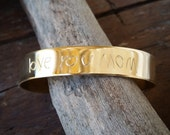 Engraved Handwriting Cuff, Mom Jewelry, Kids' Initials Bracelet, Mother's Day Gift, Custom Personalized Jewelry