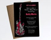 Rock a Bye Baby Shower invitation (Girl)  - Printable