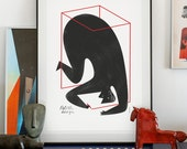 Polish Design poster. lllustration art giclée print signed by the artist. A2 poster.