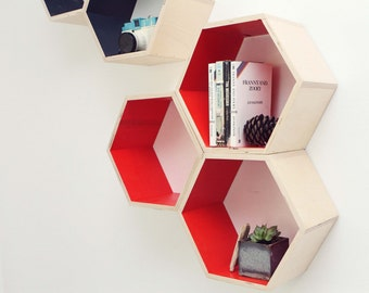 Set of Three Honeycomb Shelves