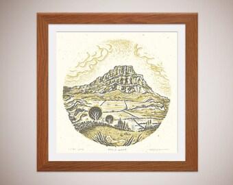 Pen-Y-Ghent - Yorkshire Three Peaks - silkscreen print