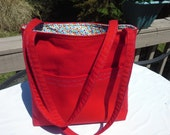 Red Open-Tote Bag