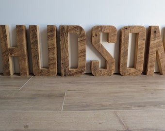 Wooden Letters. Reclaimed Fireplace or Desk or Wall Sign