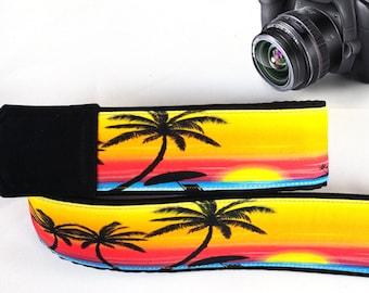 Beach Camera Strap. Sunset Camera Strap, Palm-Trees Camera Strap. Accessories