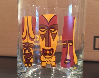 Creepy Tiki Old Fashioned Glass