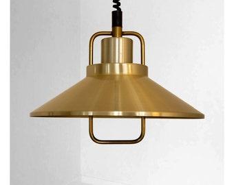Beautiful Danish vintage brass lamp
