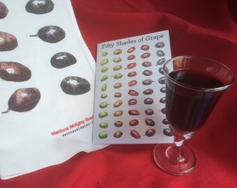 Fifty Shades of Grape Tea Towel and Card Combination
