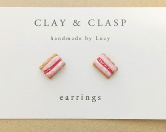 Iced VoVo Earrings - beautiful handmade polymer clay jewellery by Clay & Clasp
