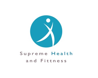 Fitness logo, custom made logo for a health and fitness business, a gym, yoga, medical services and healthy living and lifestyle.