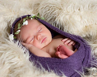 "Newborn Photo Prop Mongolian Faux Fur  Off White 18""x30"" Faux FurFabri, Newborn Photography Backdrop BasketStuffer Posing Fabric READYtoSHIP"