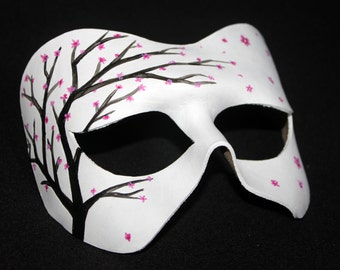 Leather Cherry Blossom Mask