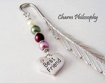 Best Friend Bookmark - Tibetan Silver Bookmark - Friendship Bookmark - Best Friend Gift