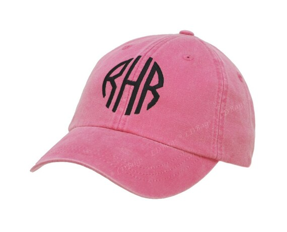 personalized pink baseball hat cap with by monogramexpress