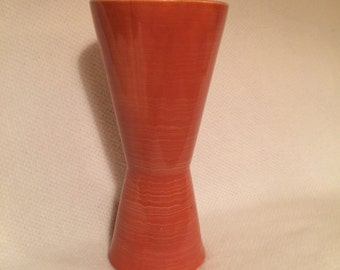 Atomic Mid Century Mc Coy Vase in Orange/Yellow Swirls